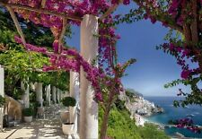 SUNNY COAST VIEW - vacation paradise wall mural photo wallpaper Italy - Sea view