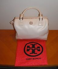 Tory Burch Robinson Middy Satchel Bleach White 105 Crossbody Purse BRAND NEW NWT