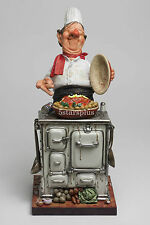 "Large Guillermo Forchino Comic The Master Chef 15"" Figurine Sculpture Statue"