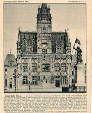 60 COMPIEGNE HOTEL DE VILLE IMAGE 1931 PRINT