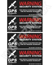 4 Automotive Car Truck SECURITY ALARM GPS Decal Stickers Apply Inside Window