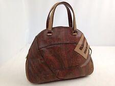 Auth ETRO Shoulder Bag Semi Shoulder unisex E motif stitch  brown 5k120050p