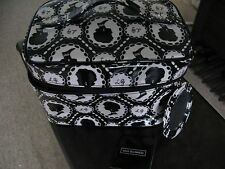 LULU GUINNESS CAMEO PRINT LAMINATE VANITY COSMETIC MAKE-UP  BAG