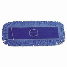 "2 Unisan Dust Mop Head Blue Looped-End Cotton/Synthetic Fibers,18"" x 5"" UNS1118"