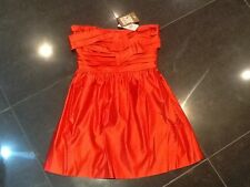 NWT Juicy Couture New Genuine Red Satin Evening / Prom Dress Size 4 US (UK 8/10)