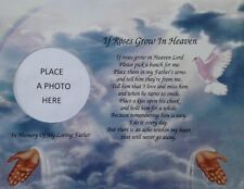 In Memory of Father If Roses Grow In Heaven Memorial Poem Sympathy Loss of Dad