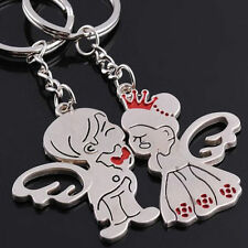 Adiz Collections Creative 3D Lovers Princess Angel Couple Key Chain Gift Set