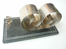 Vintage Contemporary Pen and Stationary Paper Holder - Wood, Spring Steel