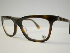 Chrome Hearts RESURECTUM Tortoise Glasses Eyewear Eyeglass Frame .925 Silver NEW