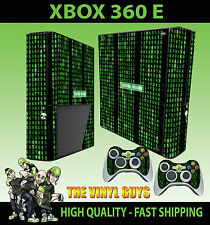 XBOX 360 E MATRIX CODE SYSTEM FAILURE STICKER SKIN & 2 PAD SKIN