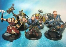 Dungeons & Dragons Miniatures Lot  Dwarf Player Characters !!  s100