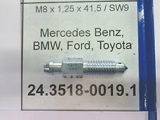 24351800191 VITE SPURGO FRENI M8 X 1,25 X 41,5 SW9  bleeding screw MERCEDES BMW