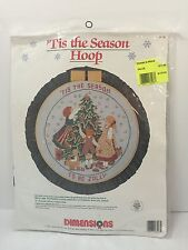 Dimensions Tis the Season to be Jolly Hoop Counted Cross Stitch Kit / New 1990