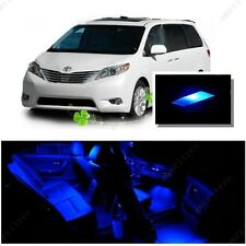 For Toyota Sienna 2011-2016 Blue LED Interior Kit + Blue License Light LED