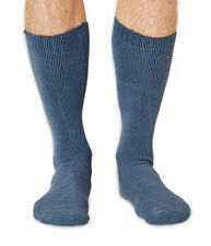 Blair-Rock men's thick bamboo boot socks in denim. Made by Braintree