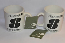 2 VINTAGE 1970s NUMEROLOGY #8 COFFEE MUGS/CUPS! NEW WITH TAGS/NOS! MADE IN JAPAN