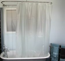 Extra Wide Shower Curtain for a Clawfoot Tub/Opaque with Magnets