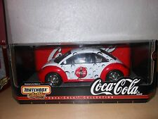 1/18 SCALE MATCHBOX  COCA COLA 1999 VW BEETLE  NIB
