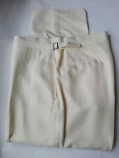 St SAINT ANDREWS HAND MADE man pants pantalone uomo 100% SILK IT 46 UK 32 US S