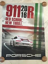 "Porsche Factory Poster-2016 911 R | ""Old School.  New Thrill."" 