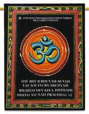 Om Indian Hanging Cotton Wall Tapestry Poster Size Black Bohemian Decor Throw