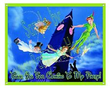 "Peter Pan Disney Matte Vinyl Birthday Party Banner 30""x24"" [2.5' x 2' feet]"
