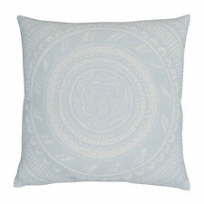 Blue Lace Cushion Cover - 45cm pillow decor handdrawn intricate pattern floral