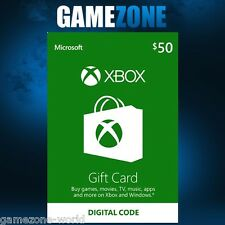 Xbox Live $50 USA Gift Card Points USD Dollars For Microsoft Xbox 360 / Xbox One