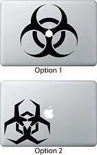 Biohazard Decal Sticker for Apple Mac Book Air/Pro Dell Laptop Bio-Hazard Threat