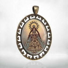 Virgin of Antipolo Mother Mary Religious Catholic Christian Medal Pendant Oval