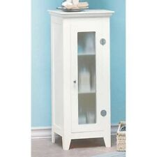 "small space saving slim 14"" shabby White bathroom organizer bath cabinet shelf"
