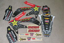 TEAM ROCKSTAR GRAPHICS & NUMBER PLATE BACKGROUNDS HONDA CRF450R 2005 2006 07 08