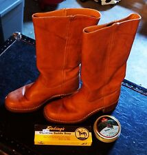 FRYE CAMPUS Saddle Leather Pull On Western Cowboy Boots Size 9M #77050-8 USA