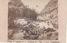 Photo cdv : Le Petit Saint Sauveur ; Bains du Pré , vers 1868