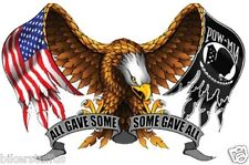 ALL GAVE SOME SOME GAVE ALL WITH EAGLE AND US FLAG BUMPER STICKER LAPTOP STICKER