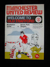 Orig.PRG   England 1.Division  1976/77  MANCHESTER UNITED - QUEENS PARK RANGERS