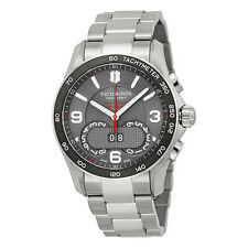 Victorinox Swiss Army Chrono Classic Dark Grey Dial Stainless Steel Mens Watch