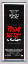 FRIDAY THE 13th Part 4 movie poster LARGE 'WIDE' FRIDGE MAGNET - CLASSIC!