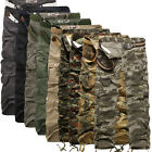 New Mens Army Cargo Camo Combat Military Casual Trousers/Pants Waist 28-40