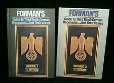 Forman's Guide to Third Reich Documents Vol. 1&2 by Adrian Forman HC LE Signed