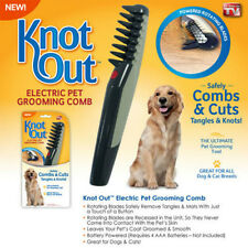 Electric Pet Grooming Flea Comb Black Grey Dog Cat Knot Out Hair Trimmer Tangles