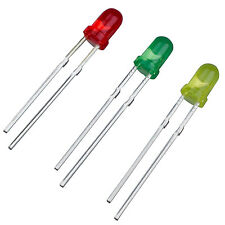 75 x 3mm Red Green Yellow Assorted Color LED Light Emitting Diodes T1