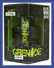 Grenade Black Ops 100 Caps Fat Burner Weight Loss FREE delivery + FREE THERMO 12