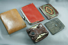 Lot of Vintage Leather Wallets Coin Purses Embossed Multicolor