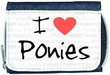 I Love Heart Ponies Denim Wallet
