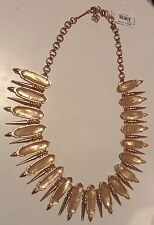 Kendra Scott Gwendolyn Statement Necklace Rose Gold Peach Illusion Bib HTF Rare