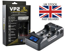 XTAR VP2 LCD Battery Charger 18650 18500 18350 26650 26500 18490 14500 UK STOCK