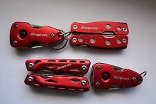 4 SNAP-ON TOOLS Stainless Steel Multi-tools: 2 MIDSIZE  & 2 SMALL SIZE W/LIGHTS
