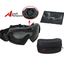 Black Tactical Military Regulator Goggles with Fan Anti-fog Dust Safety Glasses