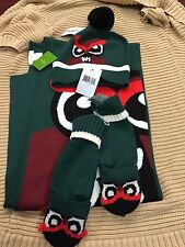 NEW! NWT KATE SPADE New York Who Me Muffler Owl Scarf Beanie Mittens Set